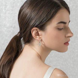 HF Snowflake Stud Drill Designer Studs Diamond Earrings Earring Chandelier Lady D' Jewelry Oreille Exotic Boucle Earings Neujx