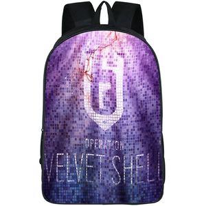 Velvet shell backpack Rainbow Six daypack 6 operation schoolbag Game print rucksack Sport school bag Outdoor day pack