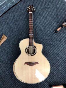 serviço personalizado atacado madeira maciça violão, de alta qualidade 41 polegadas de madeira sólida abeto popular guitarra elétrica, fornecem personalizado
