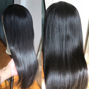 Прозрачные кружева парики 13x4 13x6 фронта шнурка человеческих волос Парики Pre щипковых Remy бразильский Straight 360 Кружева Фронтальная парик