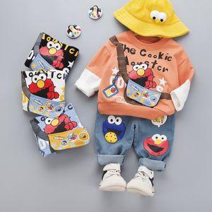 Baby Boy Одежда костюмы 2020 Весна Осень Cartoon Baby Girl Одежда наборы для детей Кофты Спортивные штаны 2PCS Kids Set