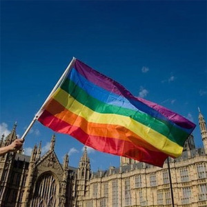 3x5ft 90x150cm Rainbow Flags And Banners Lesbian Gay Pride LGBT Flag Polyester Colorful Flag For Decoration