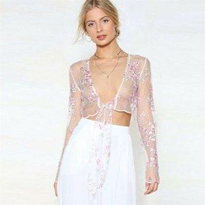 Sexy Women See Through Transparent Mesh Tops Long Sleeve T Shirt Clubwear Tops