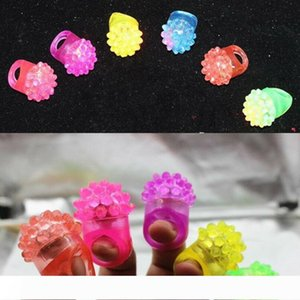 Flashing Bubble Ring Rave Party Blinking Soft Jelly Glow Hot Selling!Cool Led Light Up LX5786