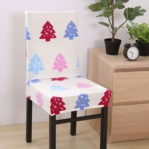 Spandex Chair Covers Removable Chair Cover Stretch Dining Seat Covers Elastic Slipcover Christmas Banquet Wedding Decor