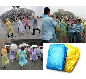 1500pcs Disposable PE Raincoat Adult One-time Emergency Waterproof Hood Poncho Travel Camping Must Rain Coat Outdoor Rainwear