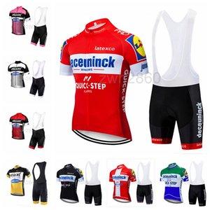 Quick STEP Cycling Team Vêtements Ensembles vélo uniforme D'été Hommes Vélo Jersey ensemble Route Vélo Maillots VTT Bike Wear Sportswear S2042037