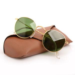 New 3447 Sonnenbrillen Brillen Brillen Sonnenbrillen Glasobjektiv Frauen Sonnenbrillen ray Herren Runde Sonnenbrille mit ursprünglichem Fall Boxs