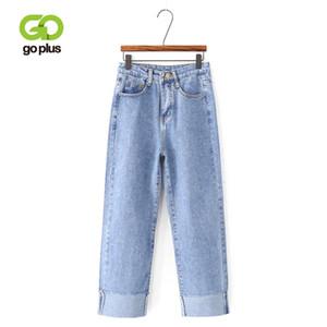 GOPLUS Loose Boyfriend Jeans Pour Femmes 2019 Casual Vintage Taille Haute Noir Denim Pantalon Femme Plus La Taille Pantalon Droit C7442