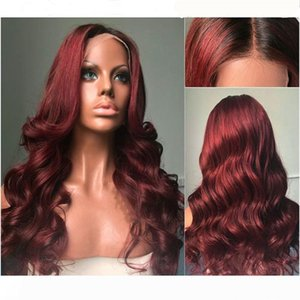 Brazilian human hair wig #1bt 99J full lace wigs lace front wigs water wave with baby hair for women for black women