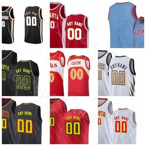 Print Screen pallacanestro Clint Capela Jersey Trae Giovane DeAndre Hunter John Collins Cam Reddish DeAndre Bembry Città Finito Earned Edition