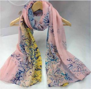 30 stili 160X50cm nuove donne di modo di Georgette lungo Wrap chiffon dello scialle Beach sciarpa Sciarpe di seta Accessori di moda