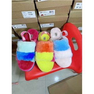 2020 kids men women furry slippers australia fluff yeah mulitcolor slide designerugguggsugglis pantoufle casual fashion sanda