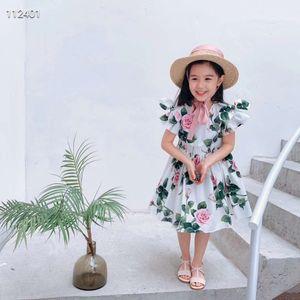 Strandrock-Babykleid Blumen für Kinder Sommer Kleinkind-Partei Strandrock Kinder Kleidung