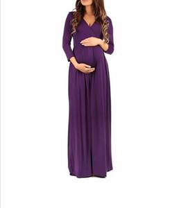 Сексуальные беременных женщин большие платья и длинные юбки для беременных женщин с длинным рукавом женщин Ruched платье