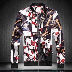 cremallera de la chaqueta con capucha de ropa 2019 Marca chaqueta rompevientos los hombres de manga larga con estampado animal de la letra vestir serpiente bordado