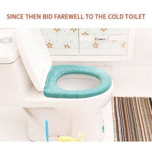 DUOLVQI Use In O-shaped Flush Comfortable Toilet Warmer Toilet Seat Cover for Bathroom Products Pedestal Pan Cushion Pads