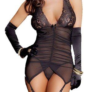 2019 여름 여성 섹시한 드레스 섹스 포르노 베이비 돌 투명 속옷, 에로틱 한 란제리 베이비 돌 잠옷 드레스 블랙
