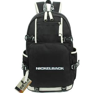 Pacote de dia de Nickelback Pack de dia de Mike Kroeger Mochila de bermudada Packsack de banda de música Mochila de computador Bolsa de escola de esporte Mochila de porta de saída