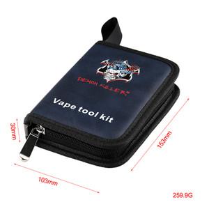 Di alta qualità Demon Killer Tool Kit FAI DA TE RDA RBA Atomizzatore Vape Tools Con Pinzette Frese Pieghevole Scissor Cacciavite Ecig DHL Libero