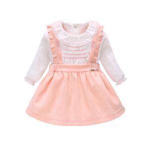 Vlinder Skirt Fashion T shirt Skirts 2PCS For Newborn Baby Girl 9M-3T Infant Clothes Set T200706