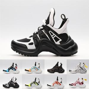 Com Caixa de 2019 Archlight Novas Sapatilhas De Grife De Luxo Sapatilhas De Couro Genuíno TPU Outsole Sapatos Casuais Tênis De Plataforma De Moda Tamanho 35-44