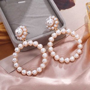 2020 New Fashion Pearl Drop Earrings For Women Lot Simple Trendy Wedding Jewelry Simple Bridal Dangle Earring