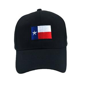 Texas State Flag Einstellbare Baseballmütze Bestickte Mützen aus Baumwolle Hysteresenhüte USA UT Longhorns Black Dad Hat
