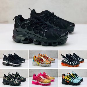 2020 Chaussures New Kids Tn Plus Running Shoes Infant big boys girls Camo Black White Sports Sneakers Run plus TN Shoes