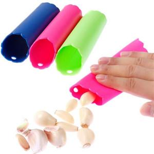 Colorido tubo de silicone Peeler Fácil Peeling Alho Cozinha Mágica Acessórios ferramenta de cozimento Ferramentas Gadget Não tóxico Silicone Alho Peeler