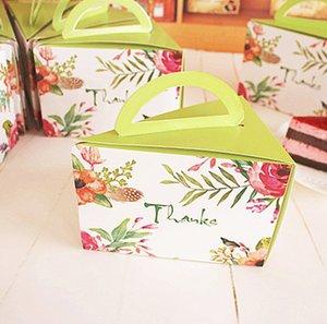 2019 New Creative Triangle Cake box Mousse Cheese Cut Scatola portatile Biscotti Mirtilli Biscotti Confezione Al Forno