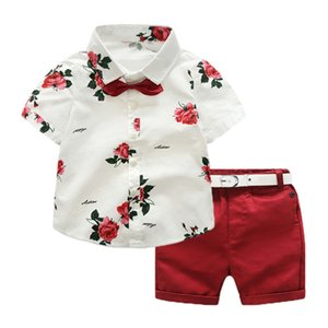 Child Low Price Set Of Summer Clothes 2019 Child Clothing Children Short Sleeve Shirt + Pants Children Suit 2 Pieces Of Clothes, Flowers