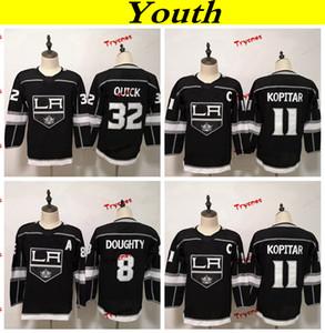 Juventude Los Angeles Reis 2019 8 Drew Doughty 11 Anze Kopitar 32 Jonathan Hóquei Rápido Jerseys Meninos Meninas Crianças Camisas Costuradas