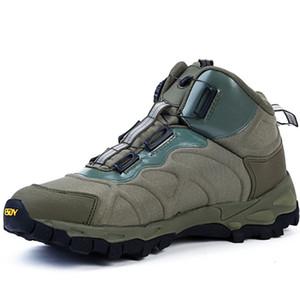 BOUSSAC botas de combate BOA Lace Sistema Homens resistente ao desgaste respirável Outdoor Caminhadas sapatos de caça selvagem Homens Safety Shoes