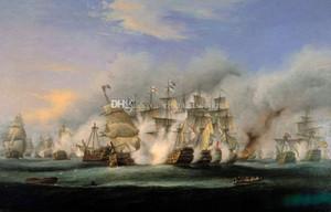 vA. Pintado à mão Batalha HD Print of Trafalgar HMS Victory Art Repro pintura Militar Art Oil On Canvas Wall Art Home Deco alta qualidade L71