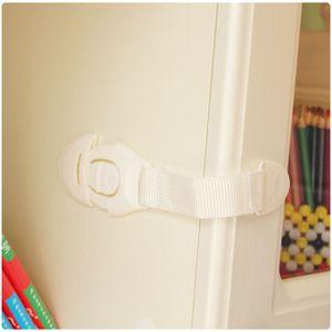 5 Pcs Child Kids Baby Care Safety Security Plastic Cabinet Locks & Strap for Drawer Wardrobe Doors Fridge Toilet Lock