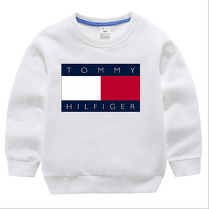 2020 novos meninos e meninas letras há hoodies 90% algodão camisa de mangas compridas de moda grossa camisola ocasional camisa 1-8T pescoço de crianças