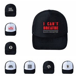 I Can't Breathe Baseball Hat Black Lives Matter Parade Caps Outdoor Summer Sunscreen Snapback I Cant Breath Caps Party Hats 120pcs RRA3183