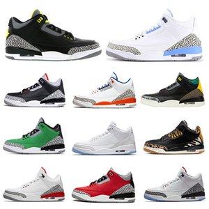 2020 UNC 3S المحكمة الأرجواني أحذية الرجال لكرة السلة jumpman الأحمر أسمنت المصلح كوريا سيول بالامتنان أحذية رياضية رجالي الرياضي المدربين الرياضية 7-13