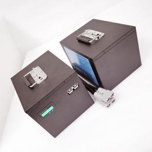 12v 200ah 1200W wiederaufladbare Batterie LiFePO4 100Ampere AGV intelligenter Roboter Scooter Mini EV Elektrostapler Golf-Trolley-Lithium-Ionen-Batterie