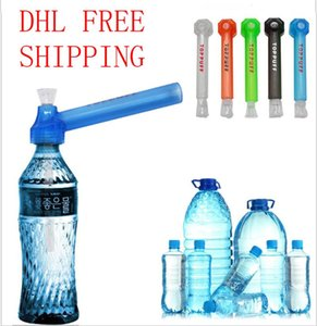 Cheapest Travel Essentials Glass Bongs Traveling Shisha Water pipe Top Puff Toppuff Smoking Pipes Acrylic water bong dhl free shipping