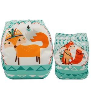 Ohbabyka Newborn Cloth Diaper lavabile Unicorn Stampa bambino Pannolini riutilizzabili Pannolini Couche copertura del pannolino Pocket Lavable