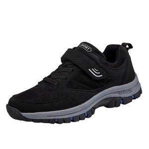 قطيع الرجال السامية أنبوب الأدوات أحذية في الهواء الطلق المشي لمسافات طويلة أحذية الشتاء للماء عدم الانزلاق القيعان احذية الراهب الأشرطة