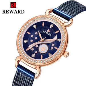 RÉCOMPENSE Nouveau Montre de luxe de Diamond Watch femmes Explosion en acier inoxydable Milan Mesh étanche Montre Femme Livraison gratuite