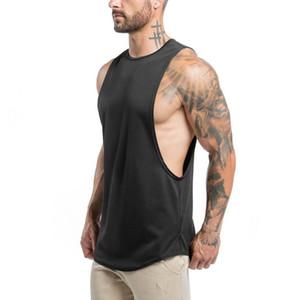 여름 남성 탱크 탑 편지와 함께 스포츠 보디 빌딩은 2020 새로운 브랜드 체육관 의류 조끼 캐주얼 남성의 속옷은 M-XXL 탑