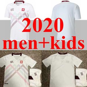 스위스 2020 멀리 2021 스위스 축구 유니폼 남자 아이 (20 개) (21) 스위스 Akanji 리아 로드리게스 Elvedi 국가 대표팀 축구 셔츠