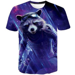 Raccoon t shirt Rocket hero short sleeve tops Guardians of the Galaxy tee Colorfast print gown Unisex all size clothing Quality tshirt