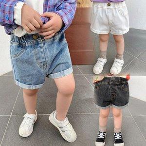 3 colore di estate del bambino di estate bambini ragazza carina denim disegno pantaloncini estivi breve cotone 100%
