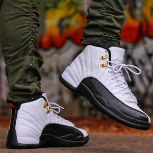 Aller homme pour les hommes Baskets femme Chaussures de basket-ball 12 XII Chaussures CNY TAXI Designer Ailes de sport éliminatoire Chaussures en cours contre la grippe jeu