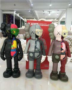 16 polegadas PVC KAWS Dissected originais falso brinquedo figuras de ação para crianças brinquedo Kaws 37cm natal presentes Designer anatomia boneca